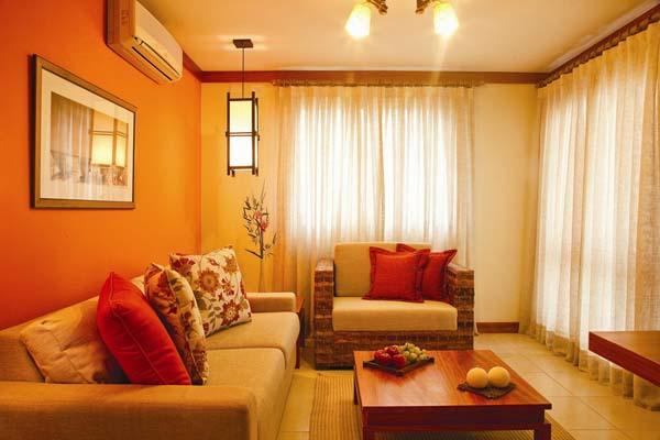 die orange farbe bedeutung wirkung und innendesign. Black Bedroom Furniture Sets. Home Design Ideas