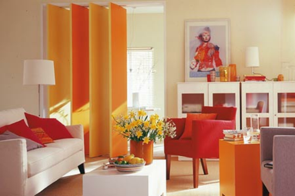 Die Orange Farbe Wohnzimmer
