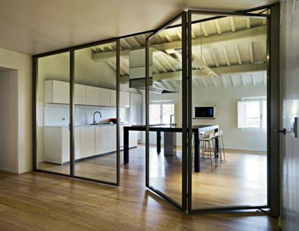Glasw nde in der wohnung raumteilung tricks for Folding glass walls