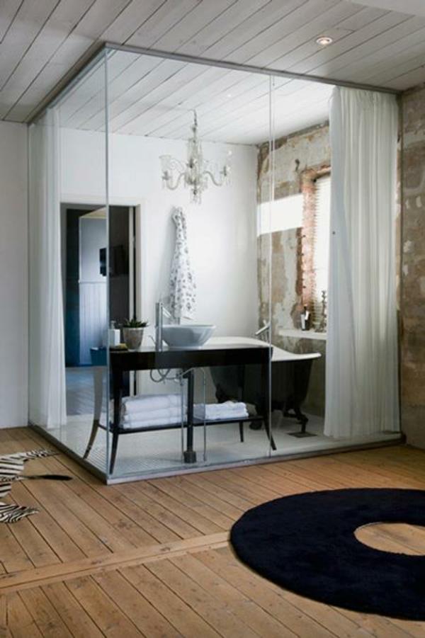 glasw nde in der wohnung raumteilung tricks. Black Bedroom Furniture Sets. Home Design Ideas