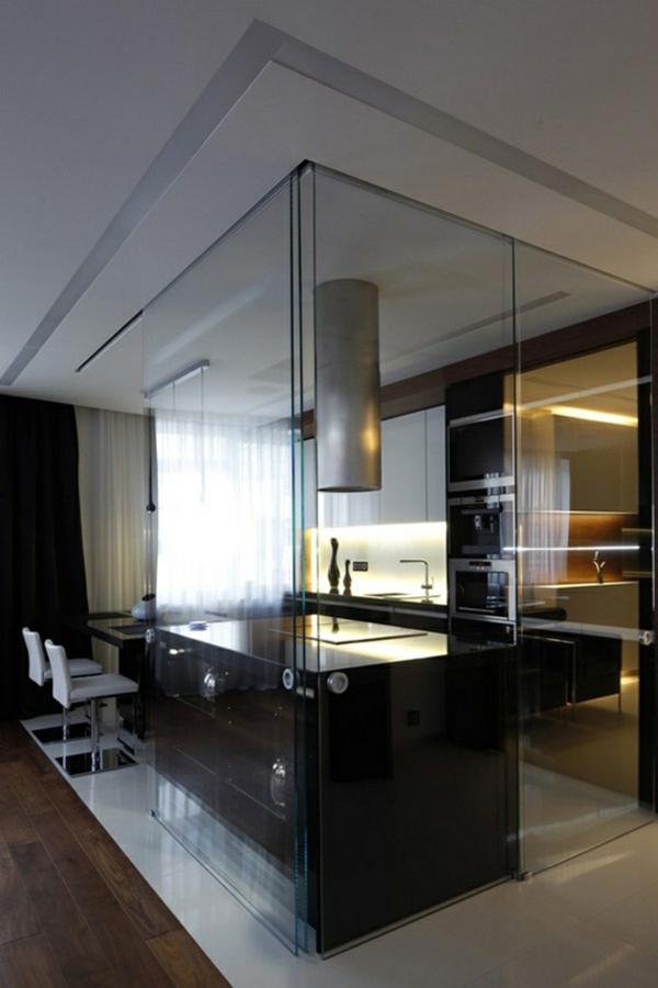 Raumteilung Tricks Innere Glaswände-4