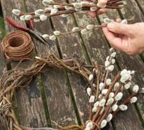 Gartengestaltung: Machen Sie einen Weidenkätzchen Kranz