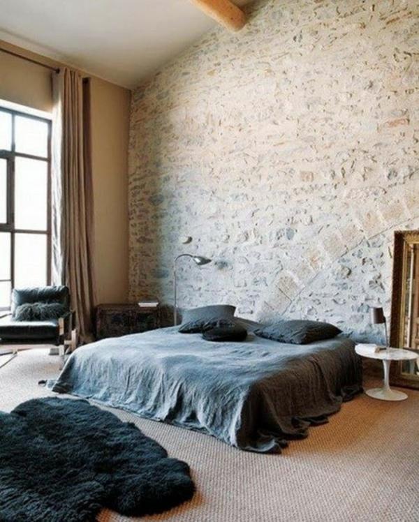 Backsteinmauer Dekoration mit Leder Boden