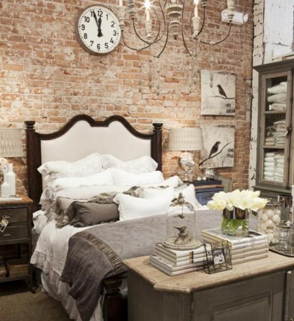 31 Ideen Wie Sie Eine Backsteinwand Hinter Ihrem Bett Schmucken