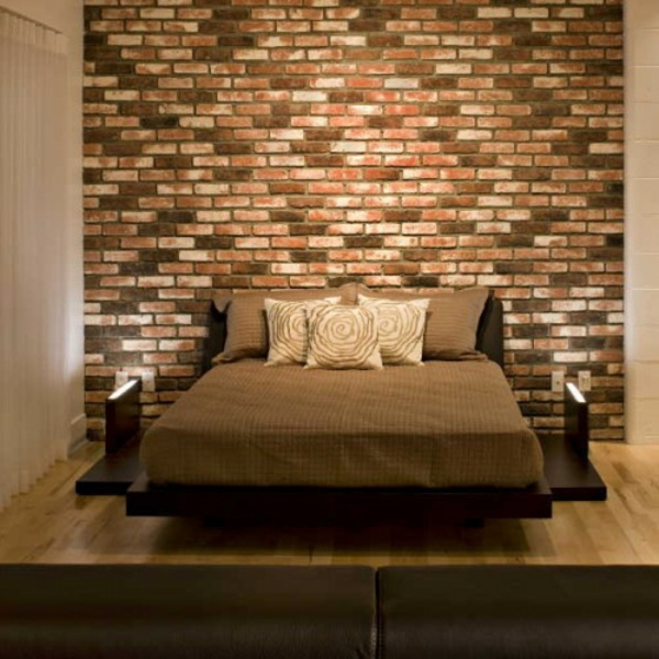 31 ideen wie sie eine backsteinwand hinter ihrem bett schm cken. Black Bedroom Furniture Sets. Home Design Ideas