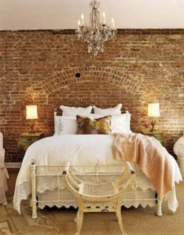 Backstein Wand Dekoration romantisch