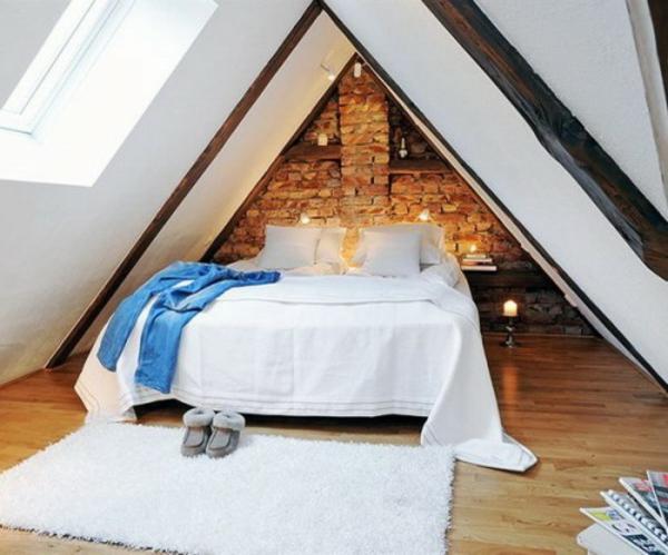31 ideen wie sie eine backsteinwand hinter ihrem bett schm cken. Black Bedroom Furniture Sets. Home Design Ideas
