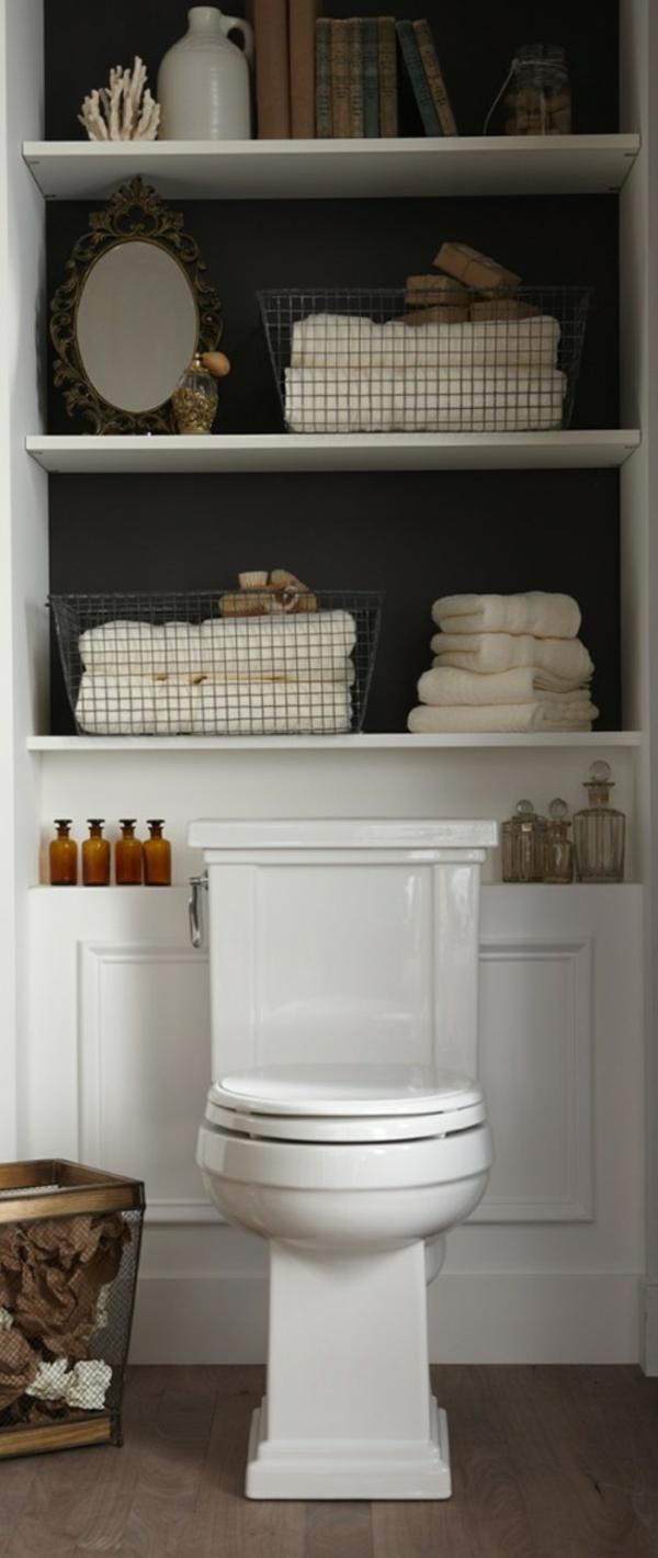 Optimaler Platz für die Badetücher die Deko