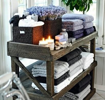 Badezimmer-Organisation-Deko-Spa-Dekoration