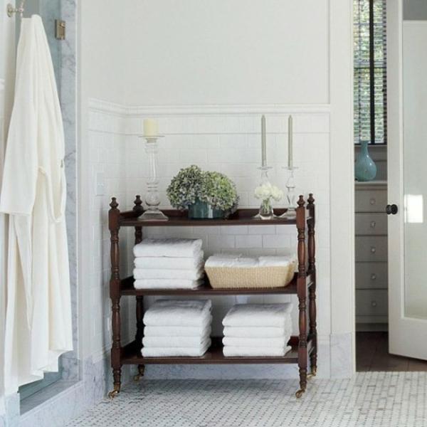 Badezimmer-Organisation-Deko-Tuecher