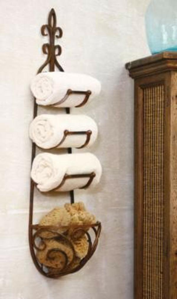 Badezimmer-Organisation-Deko-Wand-Rollen