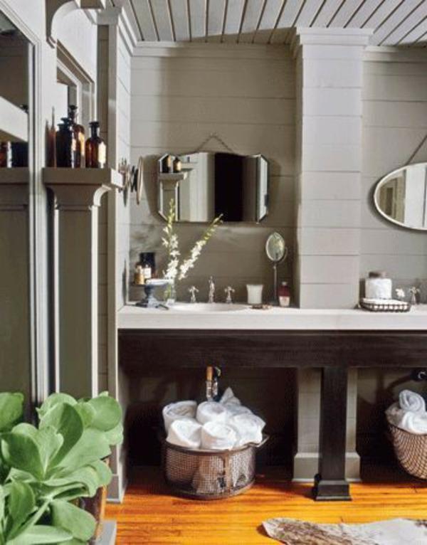 Badezimmer Idee Organisation Deko Waschbecken