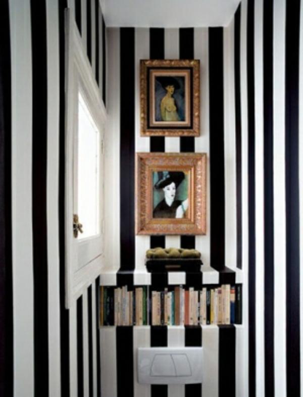 Badezimmer Idee Organisation - Zebra Muster