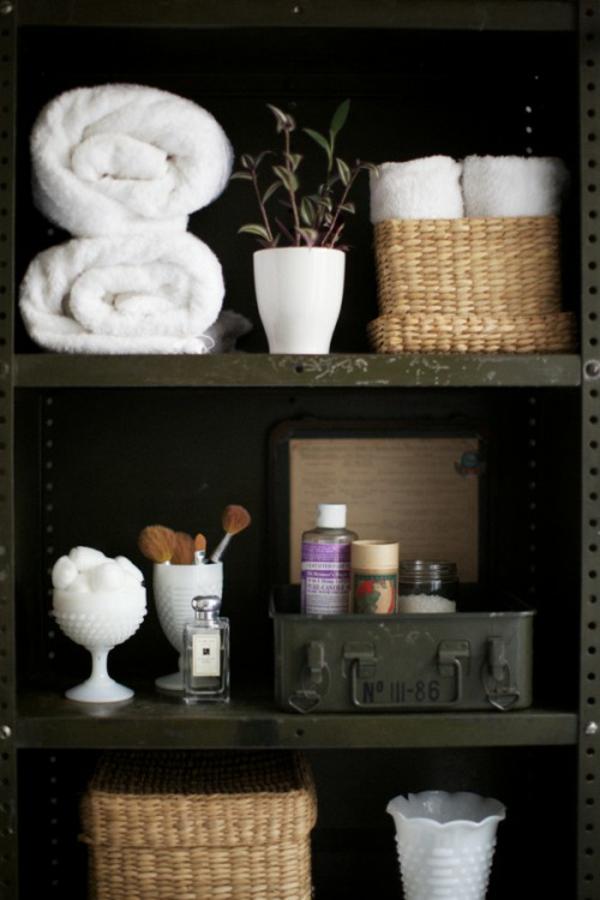 Badezimmer-Organisation-Deko-Zen-Garten