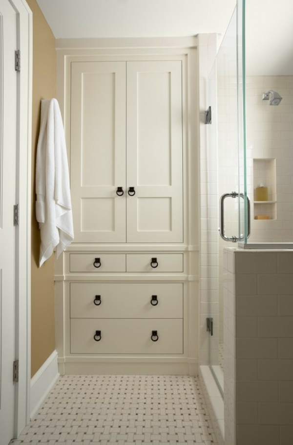 Badezimmer Organisation Ideen - Weiss