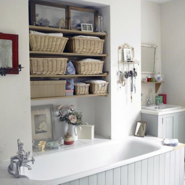 Badezimmer Idee Organisation Deko - ueber die Wanne