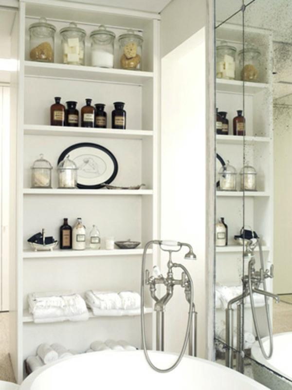 Badezimmer-Organisation-Deko-viele-regale