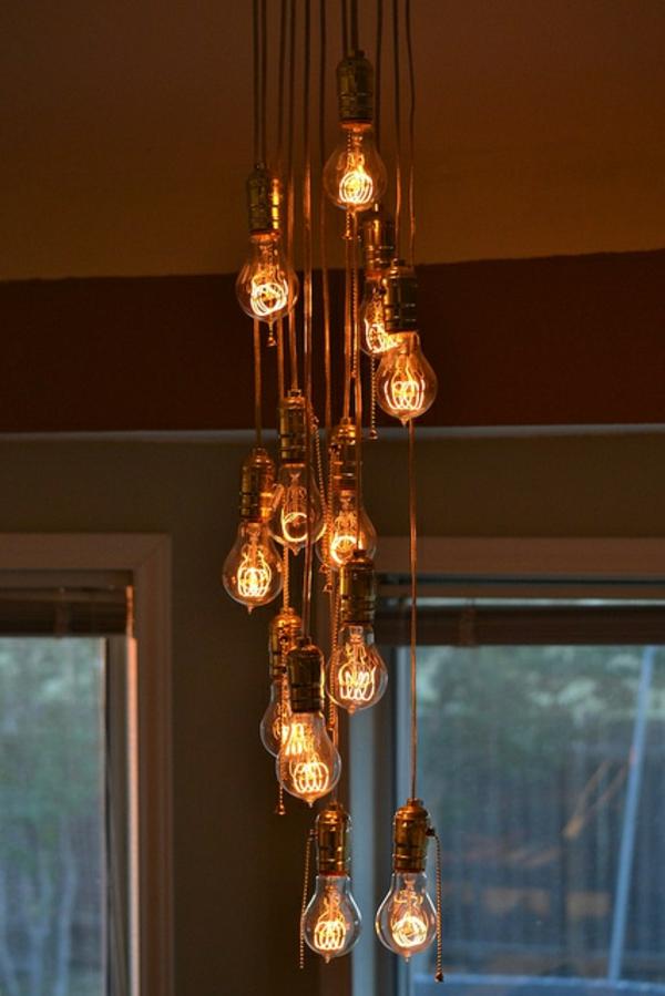Favorit 37 Coole Lampen, die fast nur aus Glühbirnen bestehen . GD98
