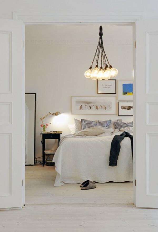 Coole Lampe Deko Idee Weiss Schlafzimmer 37 Coole Lampen, Die Fast Nur Aus  Glühbirnen Bestehen ...