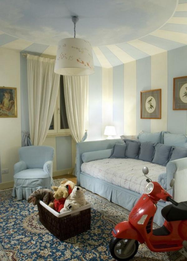 23 coole deko ideen ihre decken mit streifen zu schm cken. Black Bedroom Furniture Sets. Home Design Ideas