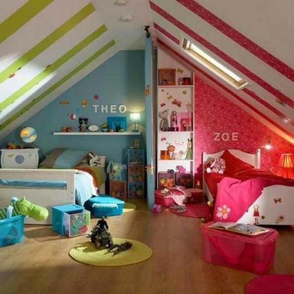 Kinder deko  23 coole Deko Ideen, Ihre Decken mit Streifen zu schmücken