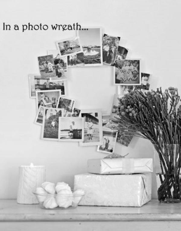 Familienfotos-Idee-Dekoration-Kranz-Fotos