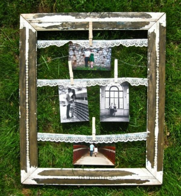 Familienfotos-Idee-Dekoration-Rahmen-Holz