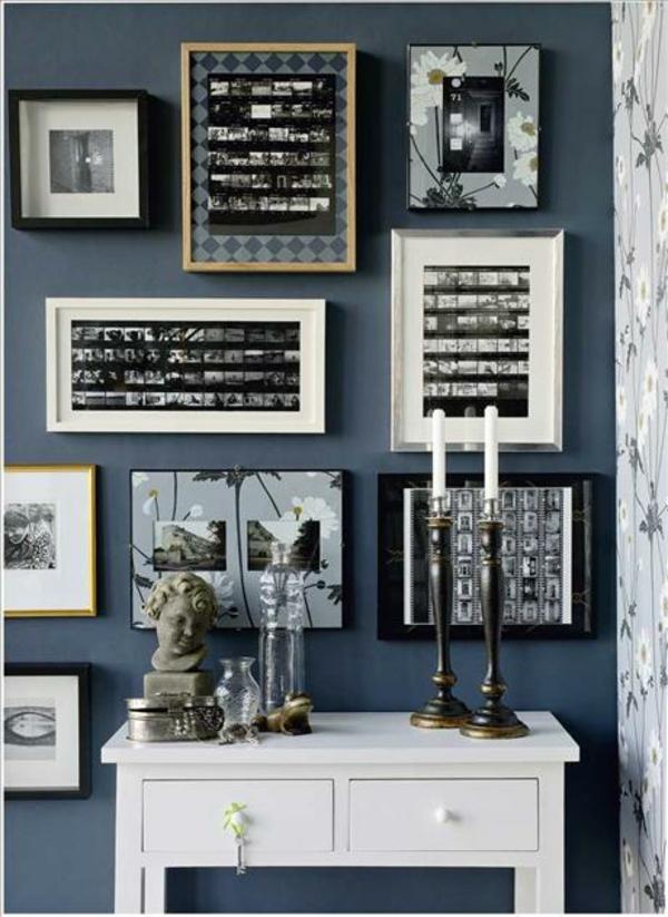 Familienfotos mit Idee Dekoration Rahmen Bilder