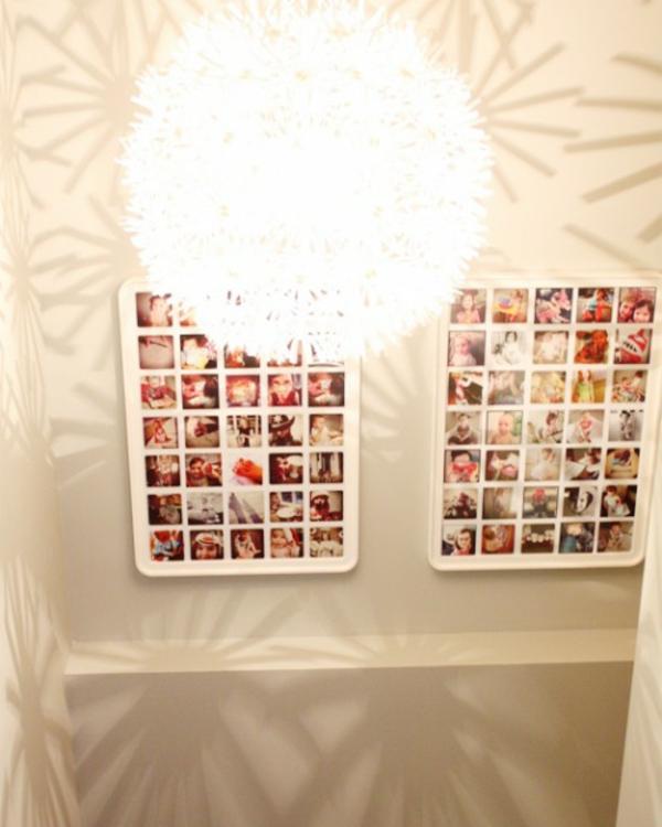 Familienfotos mit Idee Dekoration zwei verschieden Deko