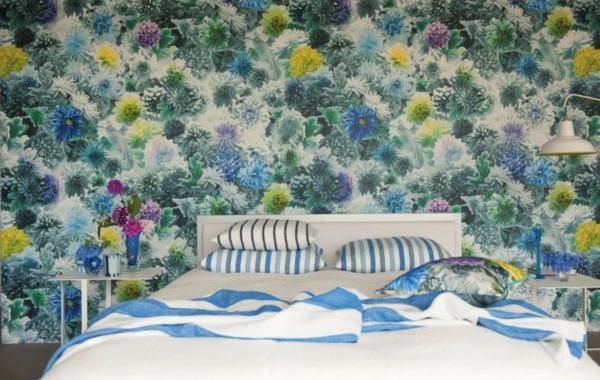 Frühling Dekoration Ideen in Blau Schlafzimmer