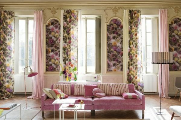Frühling Dekoration Ideen in Rosa Blumen