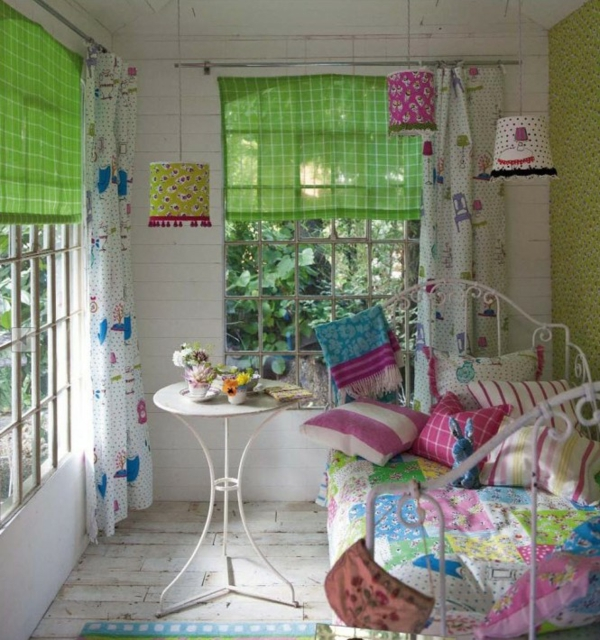 Frühling Dekoration Ideen in Rosa Kinder Schlafzimmer