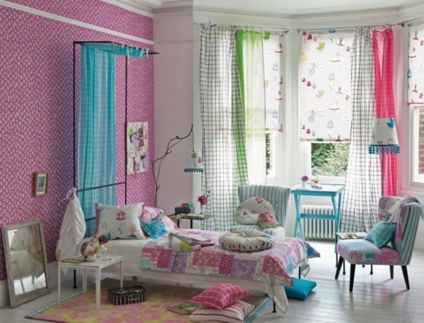 Frühling-Dekoration-Ideen-in-Rosa-rot