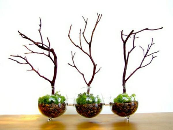 Glasbehälter Baum