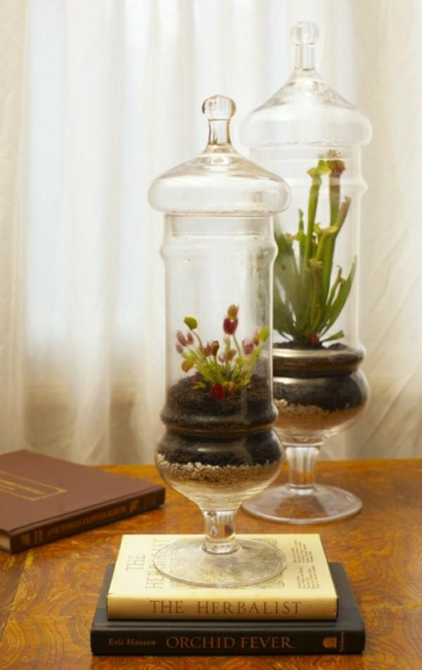 Glasbehälter für Dekoration Bluemchen