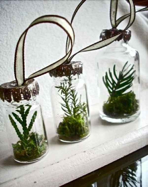 Glasbehälter für Dekoration Drei