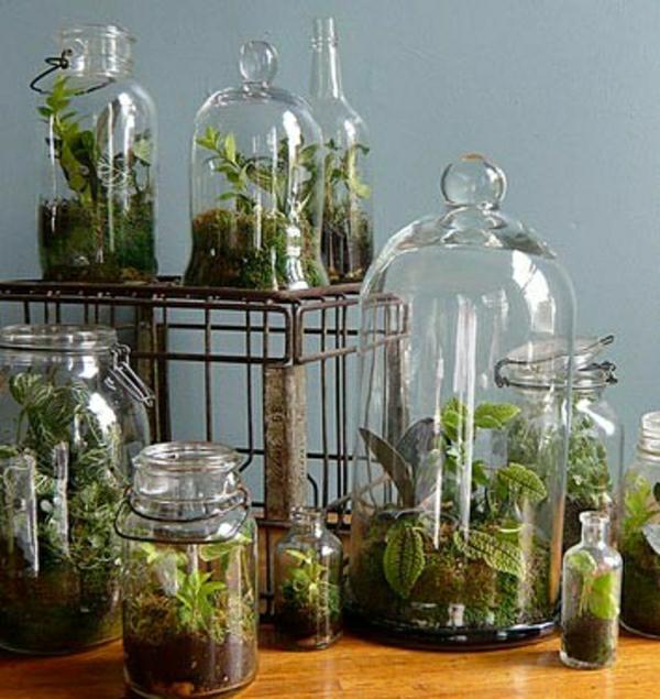 Glasbehälter Grün