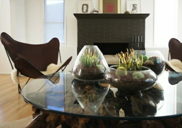 Glasbehälter Kamine