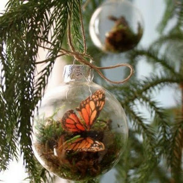 Glasbehälter Schmetterlingen