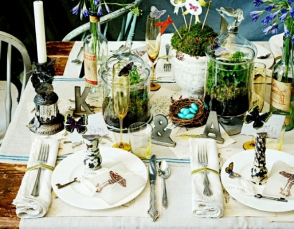 Glasbehälter Tisch