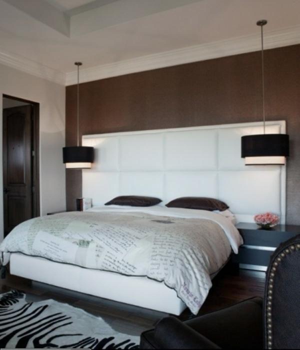 37 coole ideen f r h ngende nachttischlampe f r sie for Schlafzimmer rot braun
