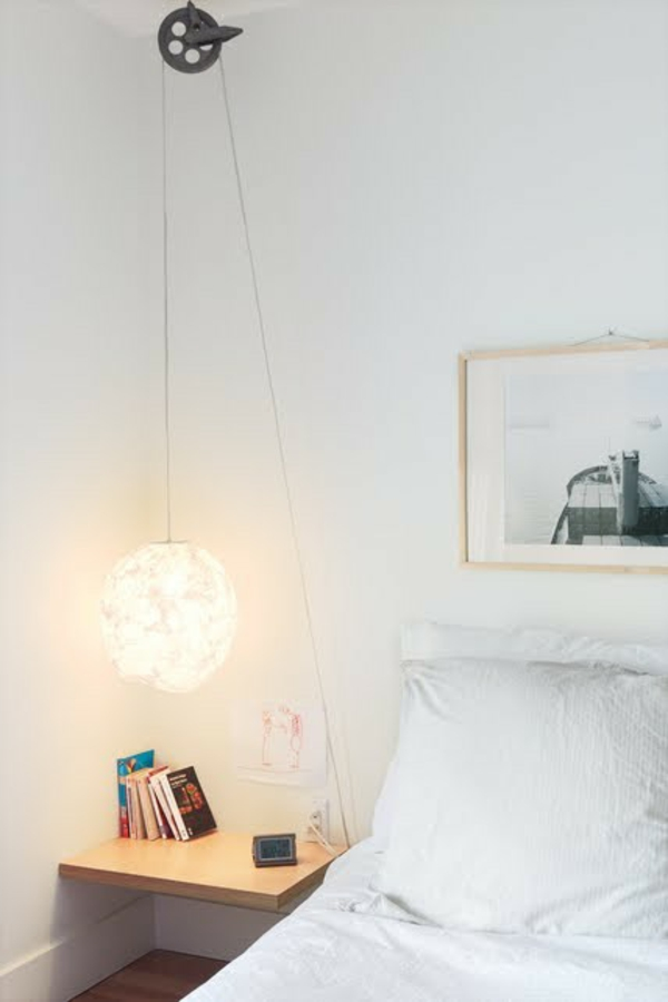 Einfache , doch wunderbare Idee für hängende Nachttischlampe in ...