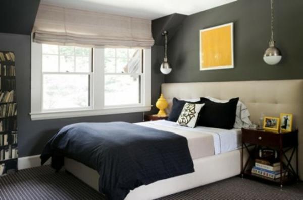 schlafzimmer wand dekorieren: coole deko ideen und farbgestaltung ... - Schlafzimmer Gelb Grau
