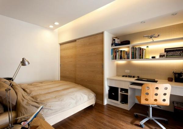 Kompaktes Schlafzimmer