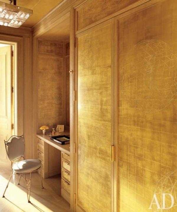 Noch eine  Idee für Ihre Metallische Wande-  in Gold pur