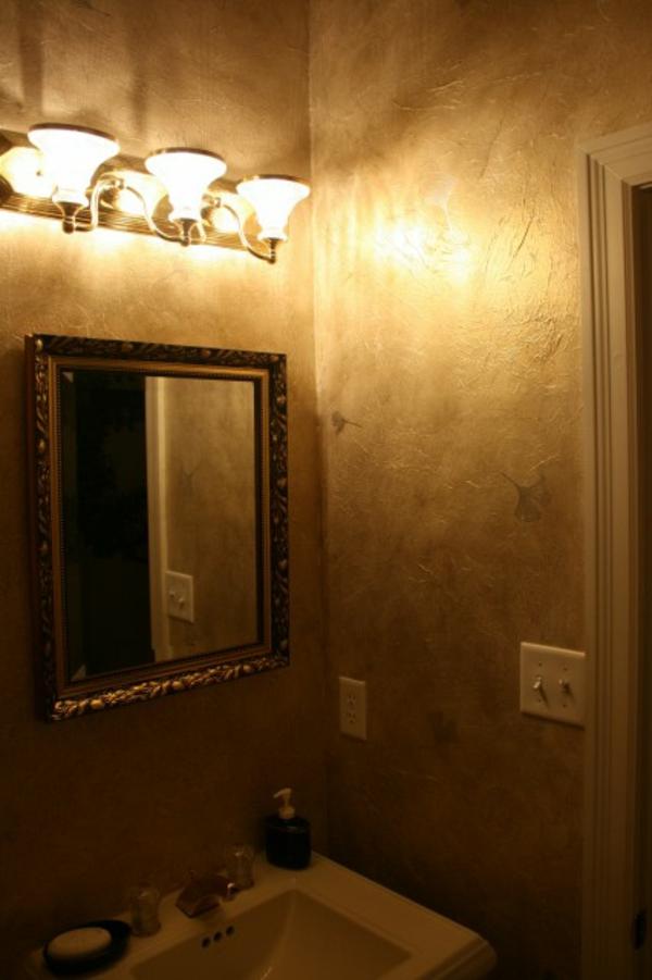 Edles Vintage Gold Look - auf den Wanden