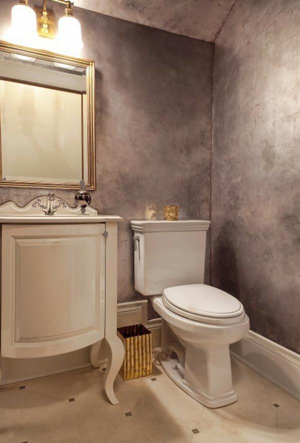Hier doch eine andere Idee für Ihr Badezimmer in Silber
