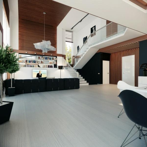 Modernes Wohnzimmer Offen