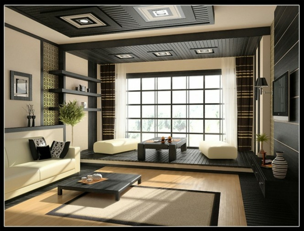27 modernes wohnzimmer vorschl ge und ideen. Black Bedroom Furniture Sets. Home Design Ideas