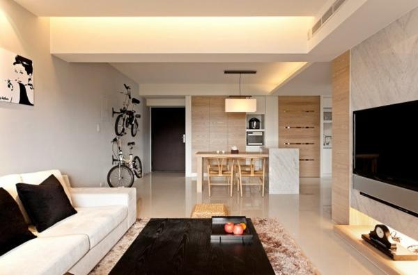 Modernes minimalistisches dekor zu hause - Minimalistisches wohnzimmer ...